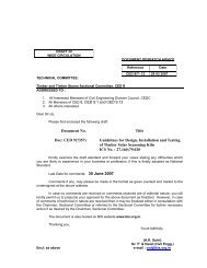 Document No. Title Doc: CED 9(7357) Guidelines for Design ... - Bis