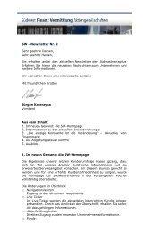 SW Newsletter Nr. 2/2007 - Südwest Finanz Vermittlung ...