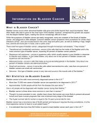 information on bladder cancer - Bladder Cancer Advocacy Network