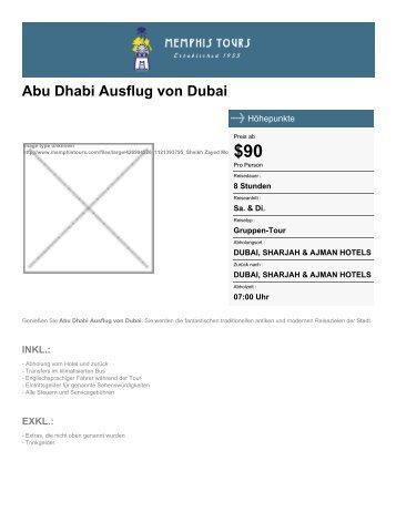 Abu Dhabi Ausflug von Dubai - Memphis Tours - Memphis Tours Egypt