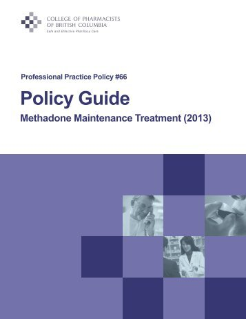 (PPP66) - Policy Guide - College of Pharmacists of British Columbia