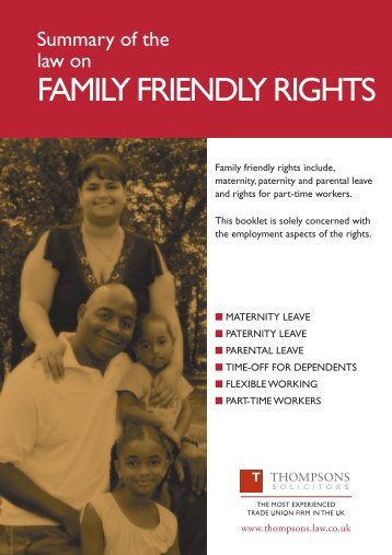 Thompsons Family Friendly Rights Booklet - Aslef