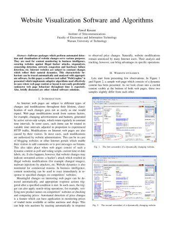 Website Visualization Software and Algorithms