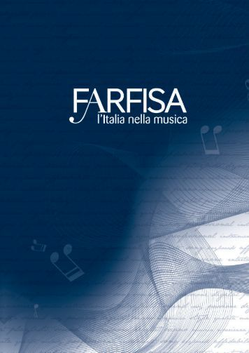 Catalogo 2012 - Con Farfisa il MADE IN ITALY vince