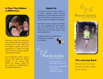 The Journey Back brochure - The Phoenix Society for Burn ...