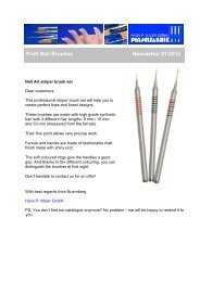 Profi Nail Brushes / Nail Art striper brush set - Newsletter 01/2012