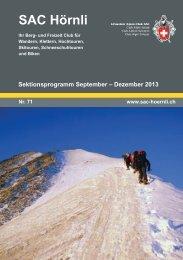SAC-Hörnli Bulletin Nr. 71 - SAC Sektion Hörnli