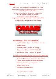 Siden 1950 har Omas produsert og utviklet ... - Bernhard Moe AS