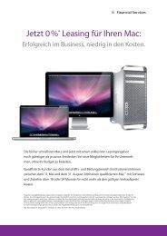 Jetzt 0 %* Leasing für Ihren Mac: - BENSE Systemhaus GmbH