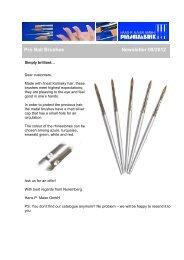 Pro Nail Brushes / Swarovski - Newsletter 09/2012