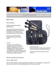 Professional Make-Up / Cosmetic Brush Set - Newsletter 10/2012
