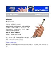 Pro Nail Brushes / Dust Brush - Newsletter 03/2013