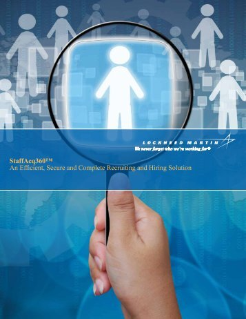 StaffAcq360™ An Efficient, Secure and Complete ... - Lockheed Martin