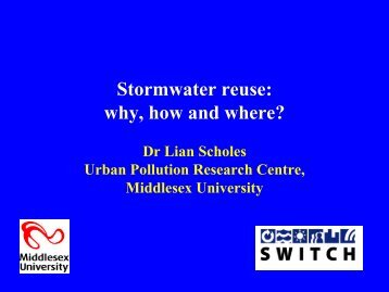 Stormwater reuse - SWITCH - Managing Water for the City of the ...