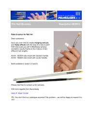 Pro Nail Brushes / Rake Brushes For Nail Art - Newsletter 06/2013