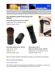 Professional Make-Up / Retractable Powder Brush - Newsletter 07/2013