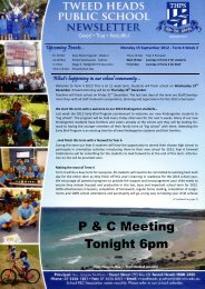 P & C Meeting Tonight 6pm - Tweed Heads Public School