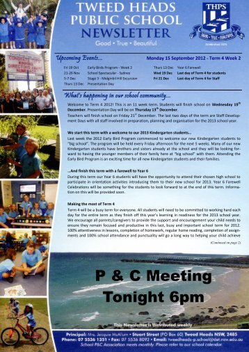P & C Meeting Tonight 6pm - Tweed Heads Public School