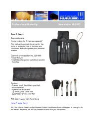 Professional Make-Up Cosmetic Brush Set - Newsletter 10/2013