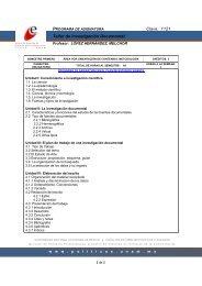 Clave: 1121 Taller de Investigación Documental - Facultad de ...