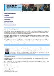 SAMF eNewsletter - August 2012 Foreword - Prof Johann ... - AMESA