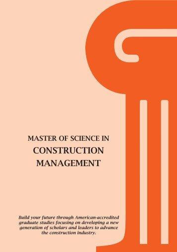 CONSTRUCTION MANAGEMENT - American University in Dubai