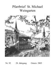 Pfarrbrief Nr. 92 - St. Michael Weingarten