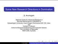 Some New Research Directions in Domination - Clemson University