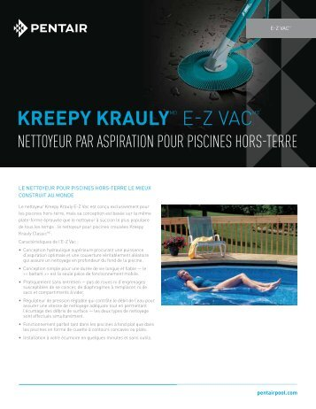Kreepy KraulyMD E-Z VaCMD - Pentair