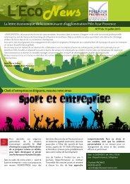 Téléchargez l'Econews de juillet 2013 - Pôle Azur Provence