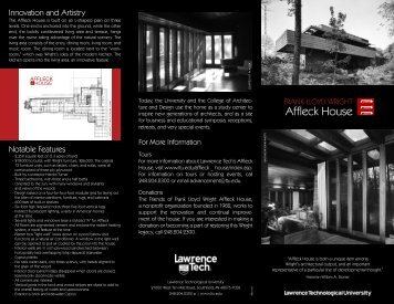 Download the Affleck House Brochure - Lawrence Technological ...