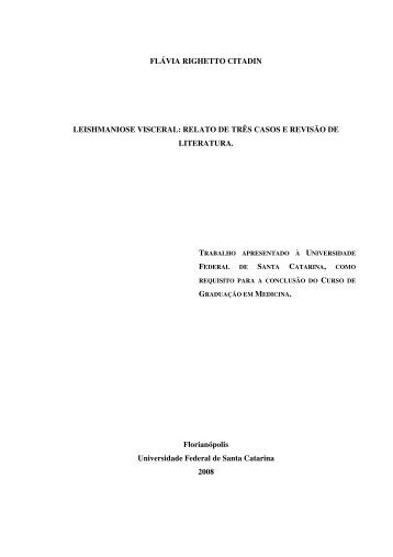 FLÁVIA RIGHETTO CITADIN LEISHMANIOSE VISCERAL ... - UFSC