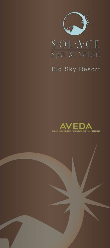 Solace Spa & Salon Brochure - Big Sky Resort