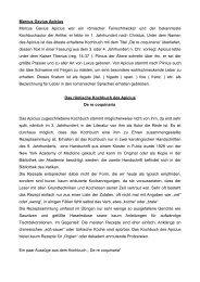 Das römische Kochbuch - Bienenzuchtverein Sulzbach-Rosenberg ...