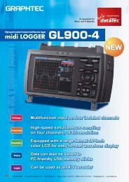Graphtec midi Logger GL900-4 - datatec Gmbh