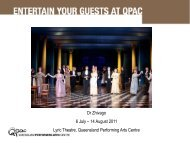Dr Zhivago 6 July – 14 August 2011 Lyric Theatre ... - QPAC
