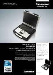 Toughbook CF-31 high Model The Fully rugged, Full-size noTebook ...