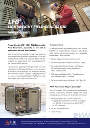 LIGHTWEIGHT FIELD GENERATOR - HGI Generators