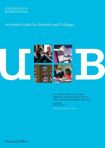 Outreach-Activities-Guide (PDF - 437KB) - University of Birmingham