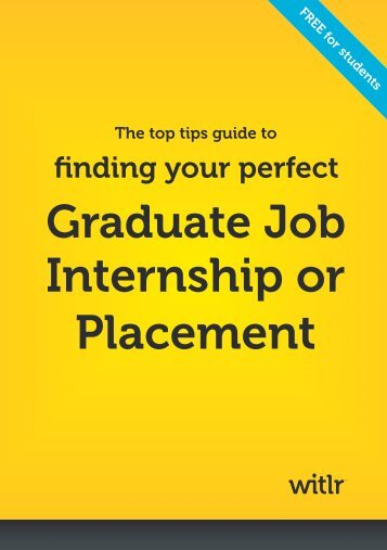 Witlr's guide to job hunting (PDF - 2MB) - University of Birmingham