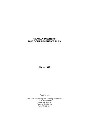 amanda township 2040 comprehensive plan - Lima-Allen County ...
