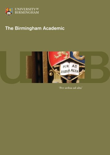 5287 Birmingham Academic 8pp AW.indd - University of Birmingham