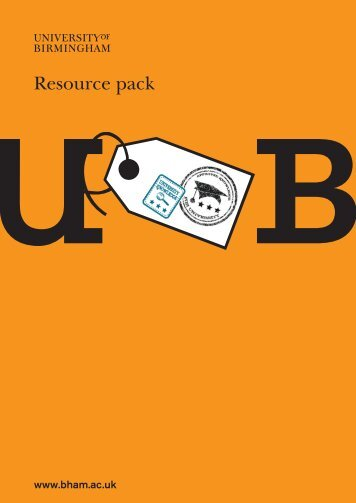 Resource Pack (PDF - 446KB) - University of Birmingham