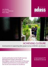 Achieving Closure Report - University of Birmingham