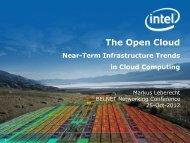 The Open Cloud Infrastructure Trends in Cloud ... - Belnet - Events