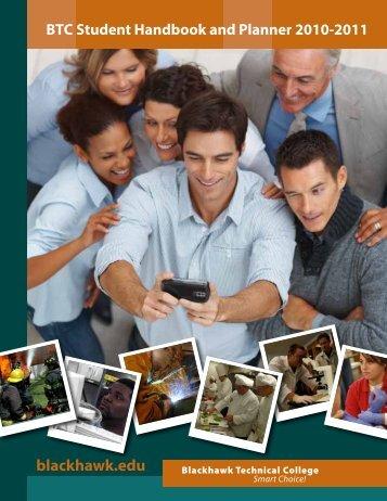 Blackhawk Technical College Student Handbook 2010-2011