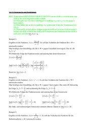 1.4.3. Grenzwerte von Funktionen DEF.: Unter dem GRENZWERT ...