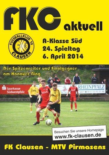 FKC Aktuell - 24. Spieltag 2013/2014