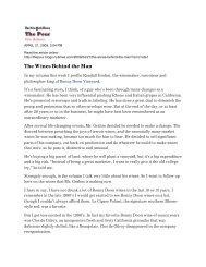 The Wines Behind the Man - Bonny Doon Vineyard