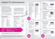 Kaapeli-TV-ohjelmapalvelut - Sonera